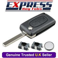 Citroen 2 Button Remote Key Fob Case Repair Kit Fits Berlingo C2 C4 C3 Pluriel