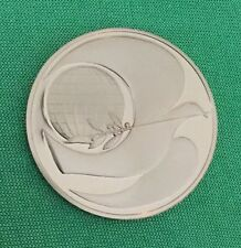 Franklin Mint Christmas Holiday Peace PAX  Dove Bird Coin Medal Olive Branch