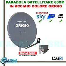 PARABOLA 80 CM IN ACCIAIO EMMEESSE COLORE GRIGIO CON SUPPORTO IN ACCIAIO EMMESSE