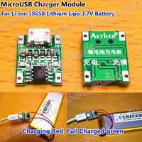 5V 1A Micro USB 1S 3.7V Li-ion 18650 Lithium Lipo Battery Charger Charging Board