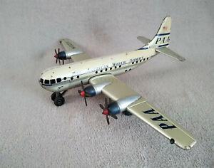 avion mecanique tole peinte et litho STRATO CLIPPER PAA gama germany années 50