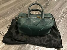 AUTHENTIC YSL YVES SAINT LAURENT Turquoise/Teal EasY Zip Top Tote Bag Handbag