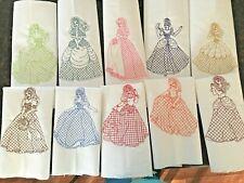 """10  Primcess, machine embroidered quilt blocks, 12""""x 12"""""""