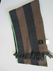 Paul Smith Jeans Grey  Brown Striped scarf 100% Cotton