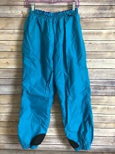 Vintage COLUMBIA SKI Snow SNOWBOARDING Pants Size Large Womens Teal Nylon 90's