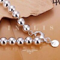 Joyas de mujer plateado aleación BeadString cadena pulsera brazalete moda