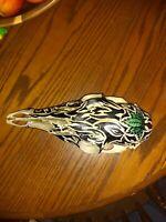Hand Painted Deer Skull.