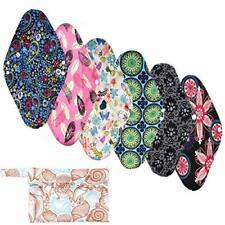 Serviettes hygieniques 6 pcs 30cm longues coussinets flux abondants nuit lavable