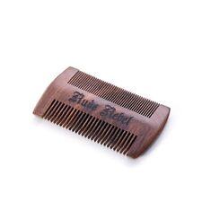 Premium Bartkamm / Taschenkamm / Kamm, Sandelholz, zwei Stärken, antistatisch