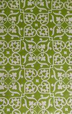 Elrene Green Floral Heart Damask vinyl flannel back tablecloth 60 Round