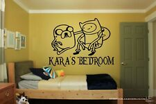 ADVENTURE TIME PERSONALISED DOOR VINYL DECAL Window Wall Mirror Floor Sticker