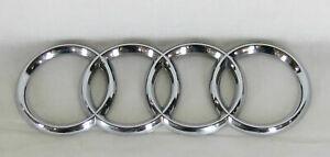 AUDI A4 A6 A3 TT EMBLEM REAR TRUNK CHROME RINGS BADGE back sign symbol logo