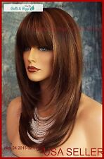 Madelyn by Amore Wigs Double Monotop for sensative scalp AUBURN SUGAR AUTHENTIC