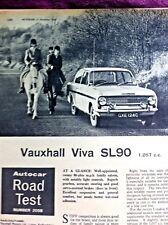 VAUXHALL VIVA SL90 (HA) - 1965 - Road Test removed from AUTOCAR + Advert