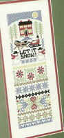 Seasonal Sampler Cross Stitch Pattern Chart from a magazine Let It Snow