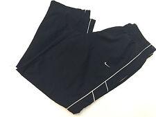 Nike Men Athletic Warm Up Pants Drawstring Waist Mesh Lined Navy Blue Size XXL