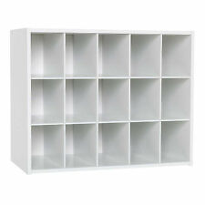 White 15 Cube Shelf DVD Bookcase Storage Unit  Book 492mmx613mmx295mm