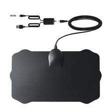 Antena Interior Delgado De TV + HDTV Digital antena amplificado 120KM de alcance