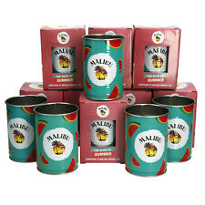 More details for 8 x malibu watermelon drinking tin/drinks.collectables. bar. pub
