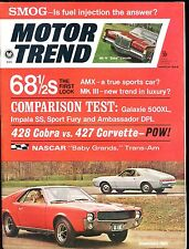 Motor Trend Magazine March 1968 American AMX EX No ML 011117jhe