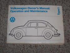 1974 Volkswagen Beetle Type 1 Sedan Convertible Owner Operator User Guide Manual