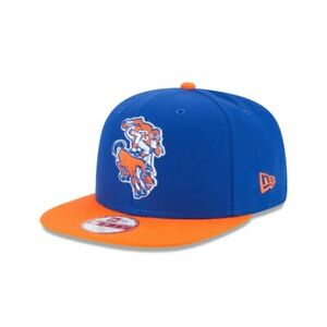 Denver Broncos Hat New Era 9Fifty Snapback Cap Retro Logo ALT Orange Blue