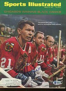 Stan Mikita Blackhawks '67 Sports Illustrated signed autographed BAS COA Beckett