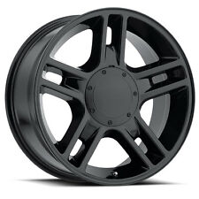"4) 22"" Ford Harley Style Gloss Black Wheels Rims Set Fits 2004 - Up 6 Lug F150"