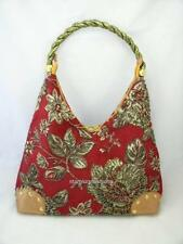 Red Tapestry Beaded Florals Handbag Shoulder Bag Hobo & Other Colors