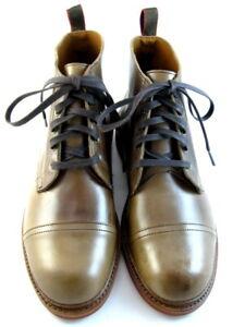 """NEW Allen Edmonds """"PATTON"""" WEATHERPROOF  Boots 12 E Natural Chromexcel USA(588)"""
