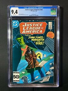 Justice League of America #248 CGC 9.4 (1986) - J'onn J'onzz Manhunter for Hire