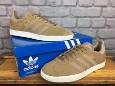 sports shoes 3cd83 78ac4 ADIDAS Donna UK 4 EU 36 2 3 Originals pelle scamosciata marrone Nude Bianco  Gazzella