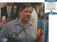 MELISSA MCCARTHY SIGNED BRIDESMAIDS MOVIE 8x10 PHOTO 2 ACTRESS BECKETT COA BAS