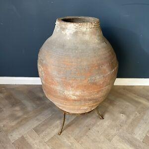 Antique Terracotta Pot Rare Large Garden Olive Oil Jar Pots Huge Old Pottery