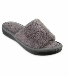 ISOTONER super soft cozy women's slide slippers with Memory Foam - GRAY (7.5-8)