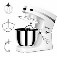 New Electric Food Stand Mixer 6 Speed 5.3Qt 800W Tilt-Head Stainless Steel Bowl
