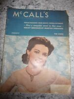 McCall's vintage August 1940 stories recipes food fashion beauty
