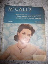 McCall's August 1940 stories recipes food fashion beauty