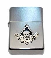 Freemason Widows Sons Skull Cigar Lighter w Dual Jet Butane Torch ~NEW ~