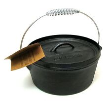 """Old Mountain 4 Quart Camp Dutch Oven Cookware w/ Flanged Lid 11.5 x 11"""""""