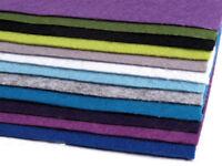 12 Platten Bastelfilz  20x30 cm Filzplatten 2mm-3mm Mix 3 Filz Schlüsselbandfilz