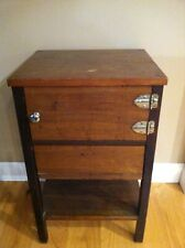 Vintage Wood 2 Compartment Smokers Stand