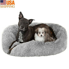 New listing Long Plush Dog Beds For Large Dogs Pet Products Cushion Soft for Anti Anxiety