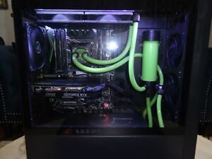 Gaming PC 2020 - Intel 6 Core 16GB RAM Water Cooled RTX 2060 Nvidia Lime Green