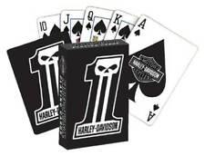 Harley-Davidson Dark Custom #1 Skull Standard Size Playing Card Deck D611