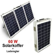 60 W Solarkoffer, Laderegler 12V Solarpanel Solarmodul Photovoltaik Boot Camping