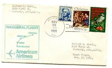 American Airlines First Flight Chicago Illinois - Melbourne Australia - 1971