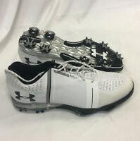 Mens Under Armour Spieth One Golf Shoes White / Black Sz 11.5 M