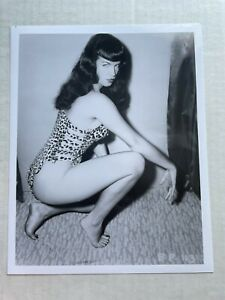 8 x 10 Photograph of Bettie Page Pinup Girl -- Repro from Original Negative  BB