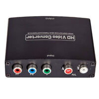 RCA YPbPr YUV Component Input to HDMI Output HDTV Video Audio Converter Adapter